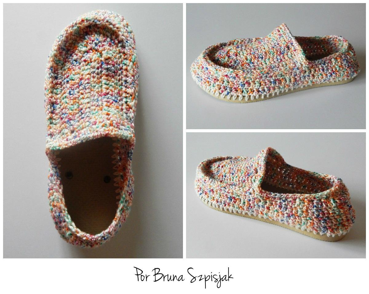 2571a4357 Aprendiz De Crocheteiras Sapatilhas De Crochê Ganhe Mais Círculo