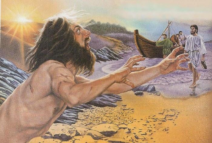 Jezus uzdrawia opętanego