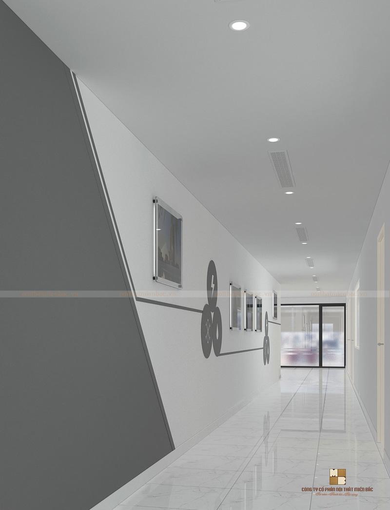 Tư vấn thiết kế văn phòng với sự kết hợp hoàn hảo giữa 2 tone màu trắng và đen luôn tạo sự cuốn hút và tiện nghi cho không gian này