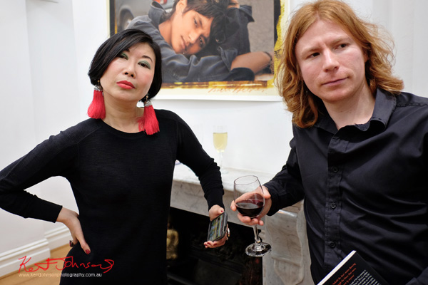 Vivienne Shui AKA vivialaViv and Ben Robertson at the 'Habana Story' book launch.