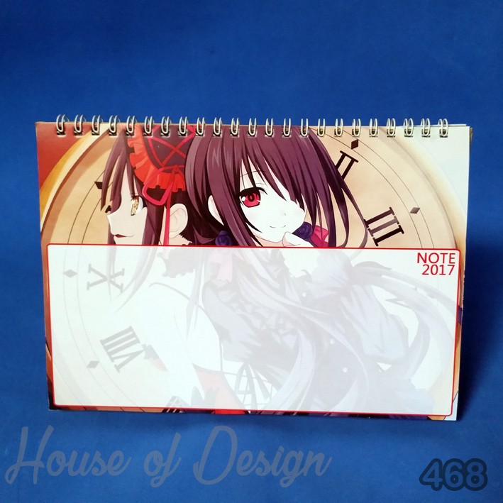 NOTE KALENDER MEJA MINI ANIME CUSTOM MURAH