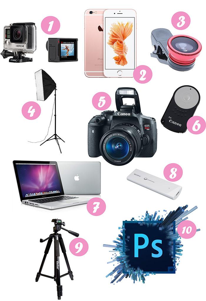 Os 10 equipamentos e acessórios que a maioria das blogueiras sonham ter