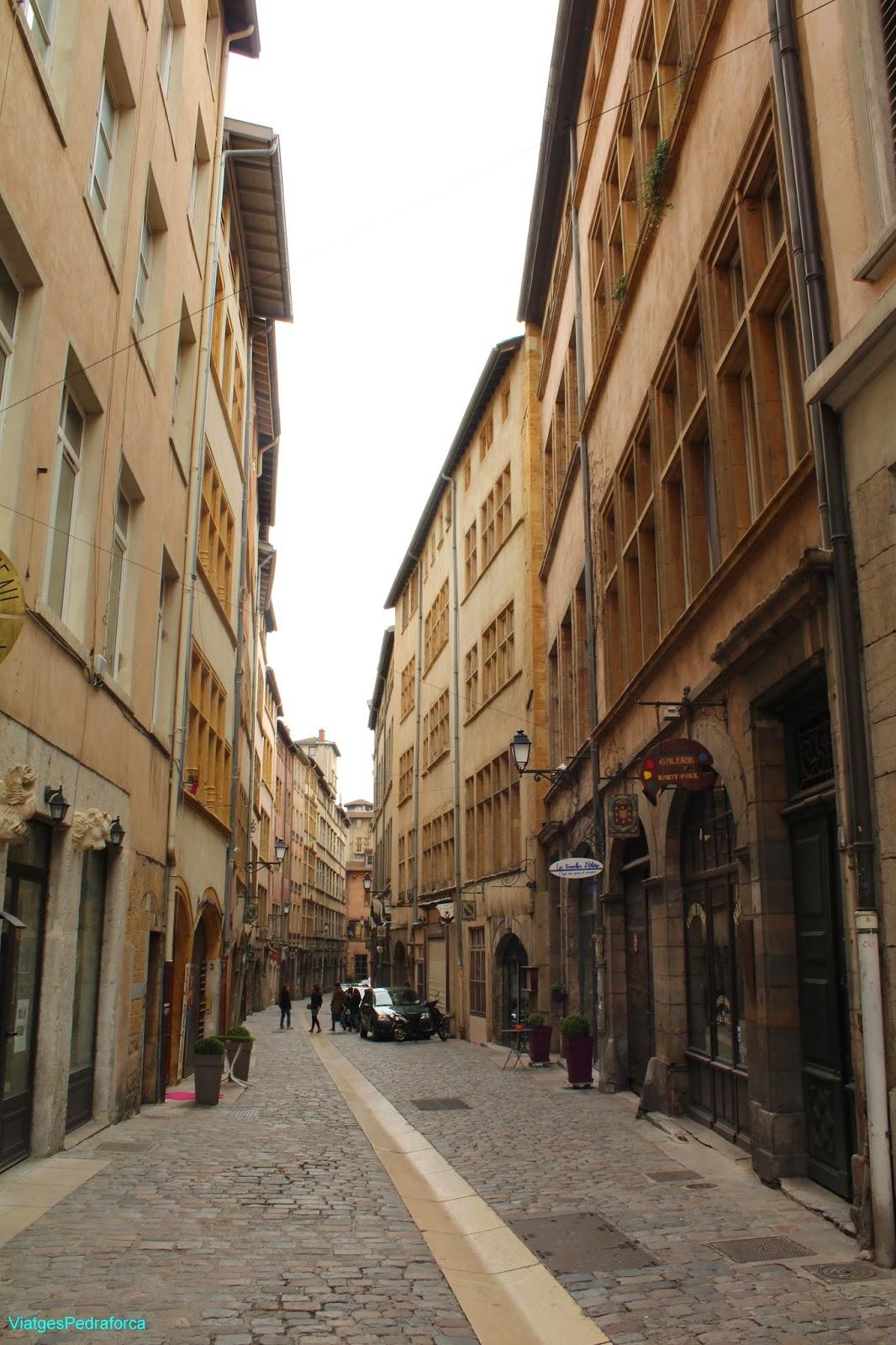 Vieux Lyon, rue Saint-Jean, rue Juiverie, Lió, Rhône-Alpes, França, France, Unesco World Heritatge, Patrimoni de la Humanitat
