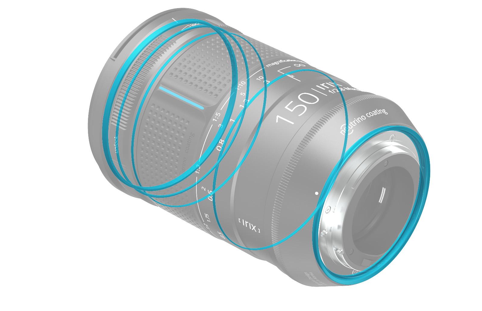 Уплотнители в объективе Irix 150mm f/2.8 Macro 1:1
