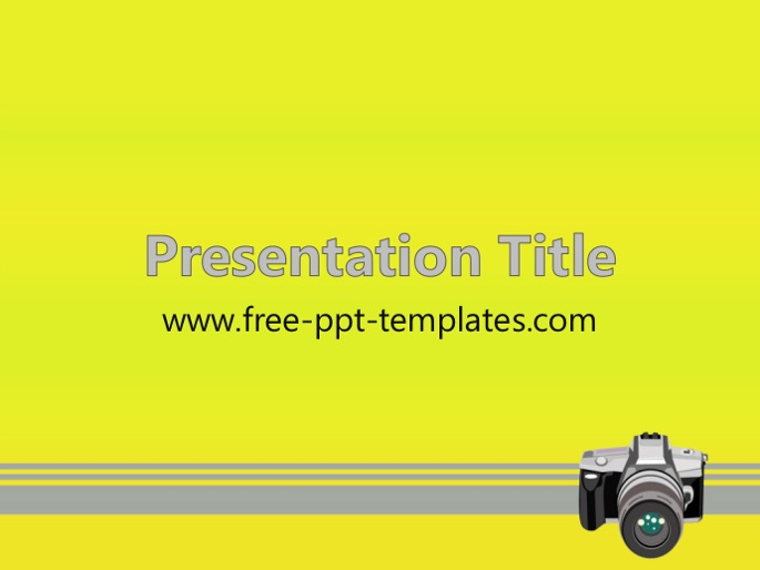photography ppt template, Modern powerpoint