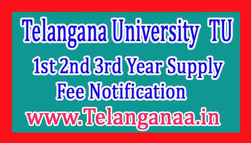 TU Degree 1st 2nd 3rd Year Supply Exam Fee Notification 2017