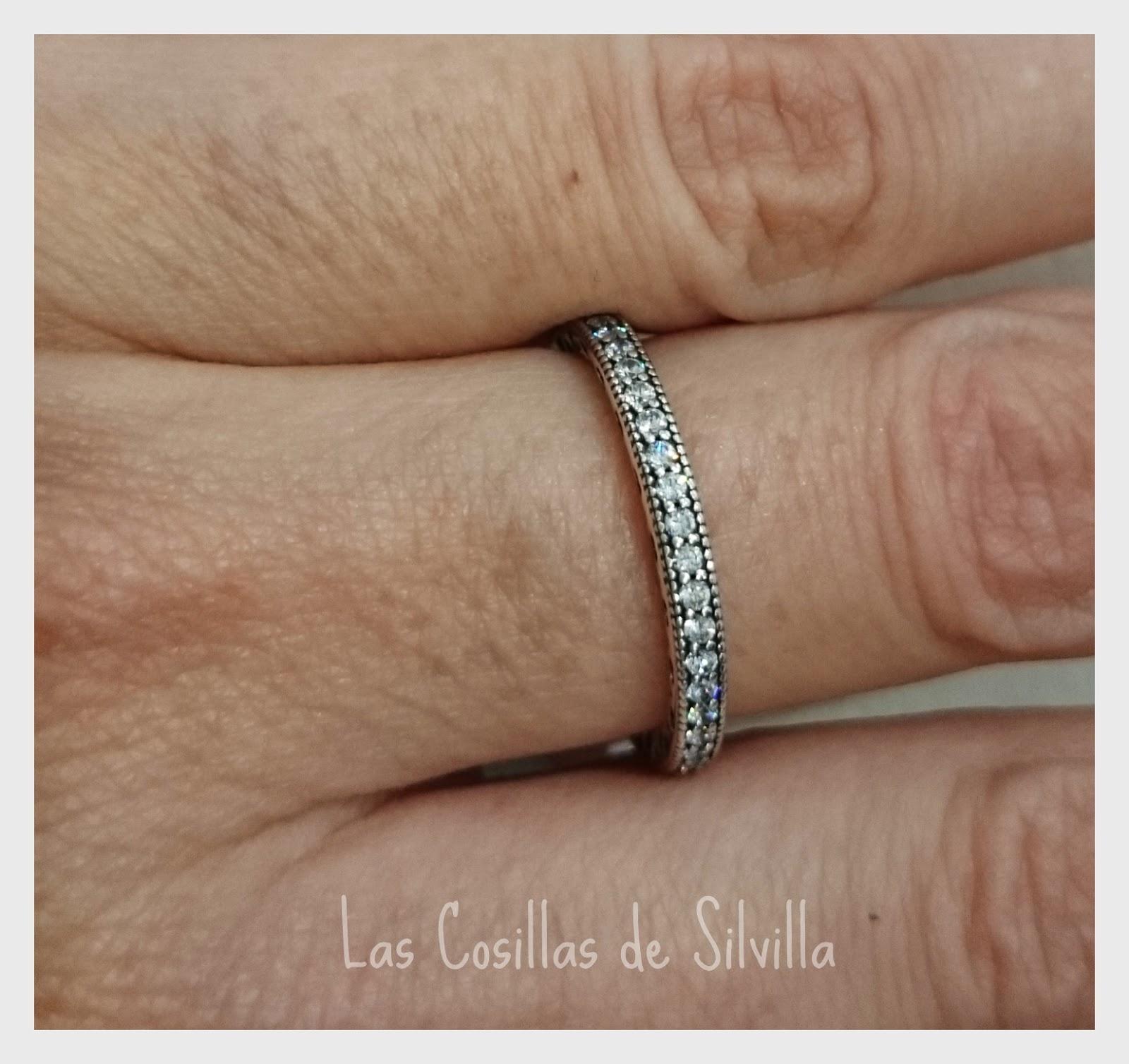 pandora anillo corazones radiantes