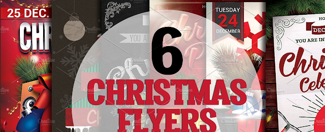 christmas flyer templates bundle