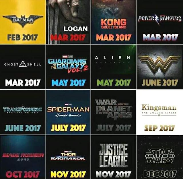 Este calendario de estrenos si que puede verse...