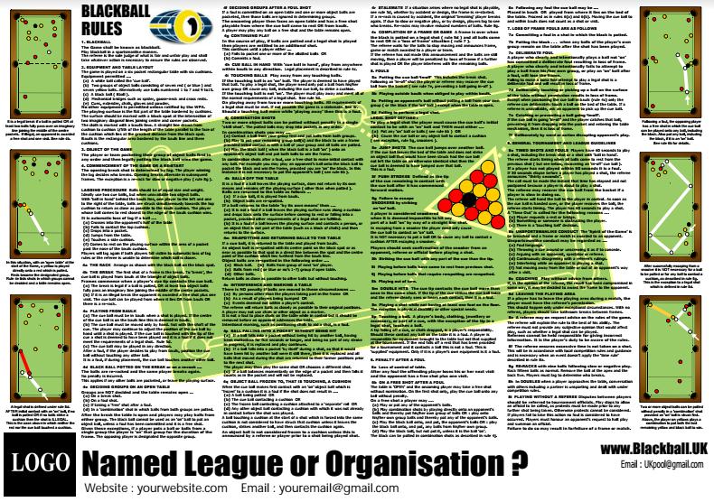 8 ball pool rules poster pdf