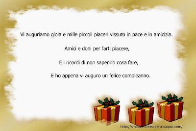 Sms anniversaire en italien