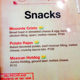 New snack items from Mooon Cafe Parkmall
