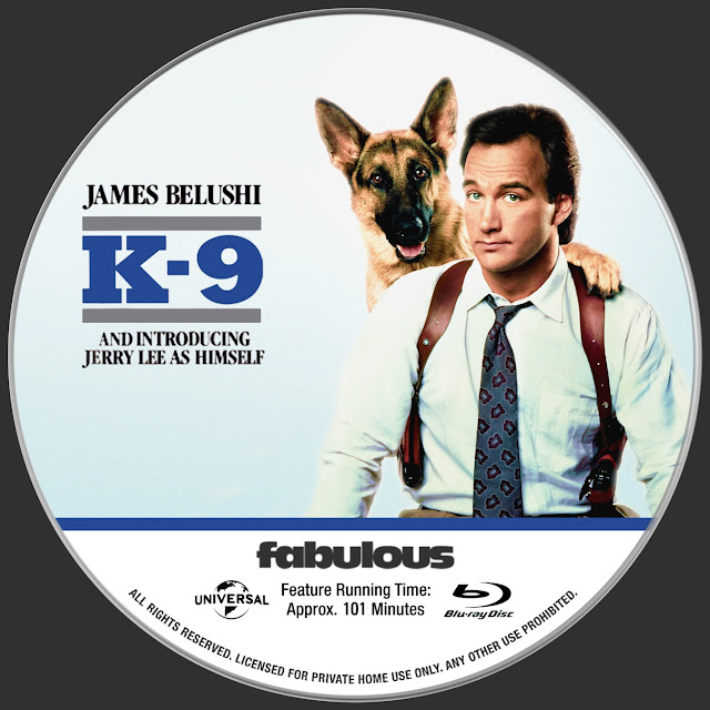 K-9 Bluray Label