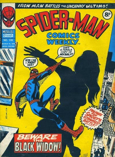 Spider-Man Comics Weekly #109, the Black Widow
