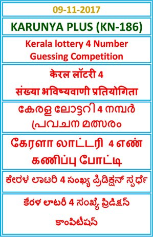 4 Number Guessing Competition KARUNYA PLUS KN-186