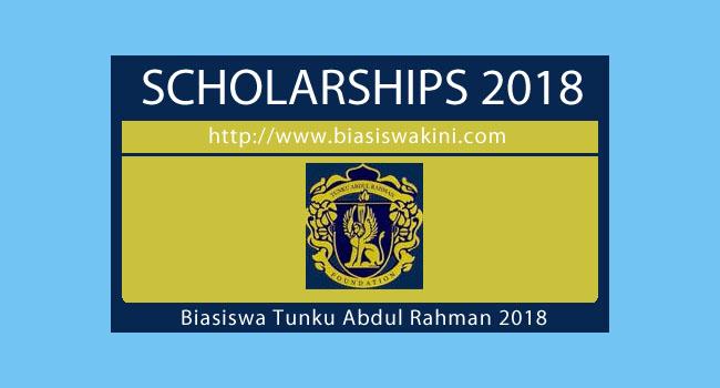 Biasiswa Tunku Abdul Rahman (BTAR) 2018