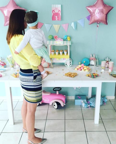 Décoration anniversaire pour les 1 an de Léa