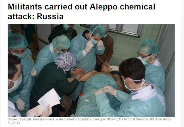 RUSSIA: MILITANTS CARRIED OUT ALEPPO CHEMICAL ATTACK