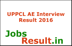UPPCL AE Interview Result 2016