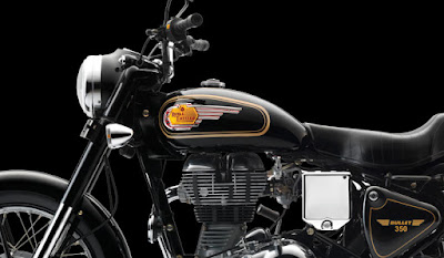 Royal Enfield Bullet 350 close up shot