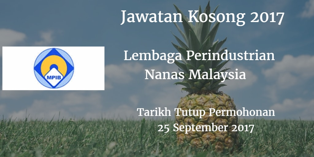 Jawatan Kosong MPIB 25 September 2017