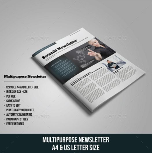 16. Multipurpose Newsletter
