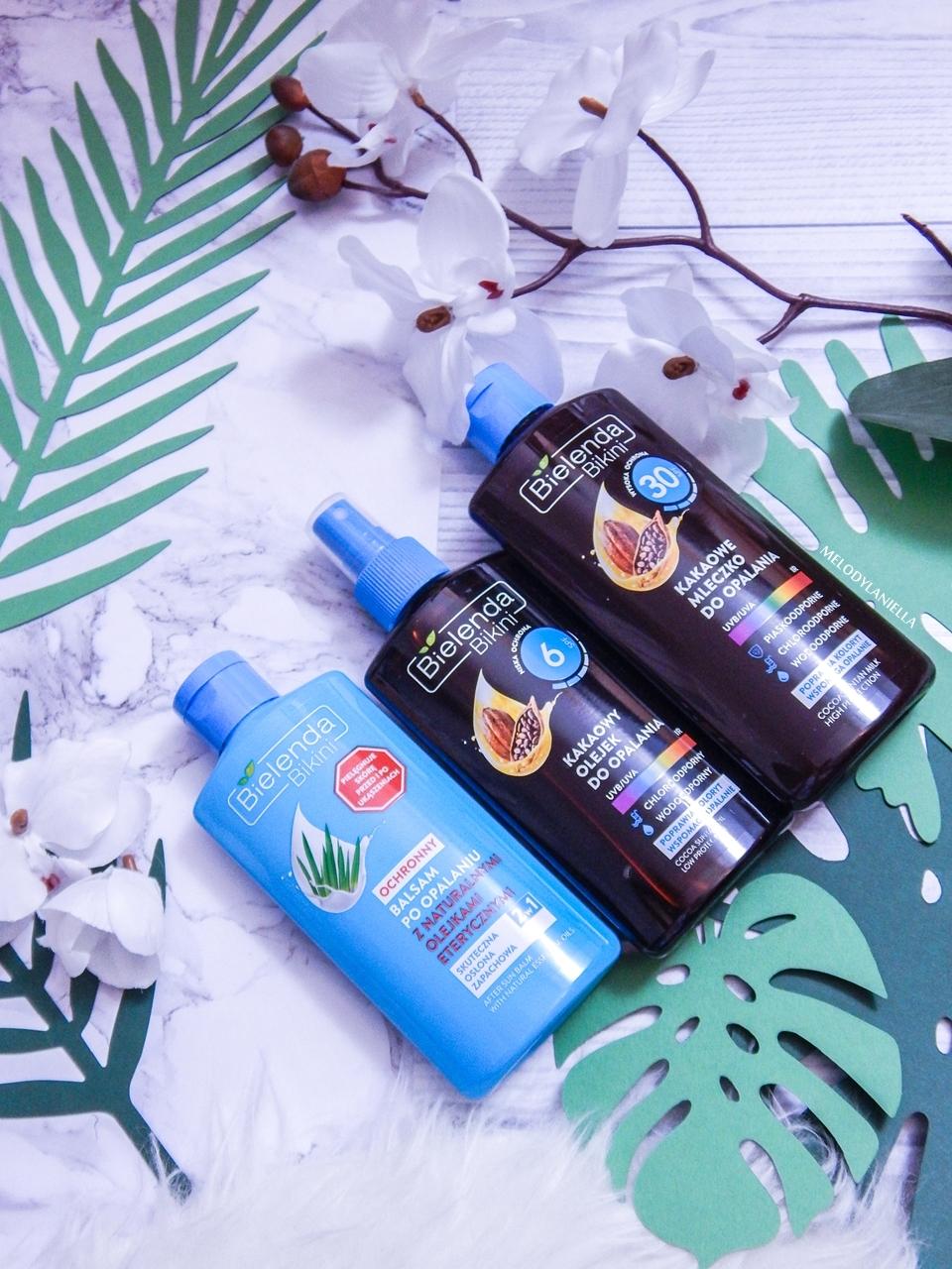 5 bielenda jak chronić skórę przed słońcem balsam po obalaniu bielenda bikini kakaowy olejek do opalania 6spf 30 spf jak dbać o skórę latem ochrona skóry w wakacje recenzje opinie bielenda melodylaniella