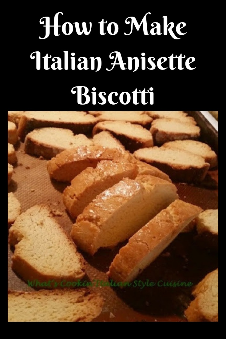 these are a traditional italian anisette biscotti and how to make them. The instructions are step by step on how to make the perfect biscotti cookie.