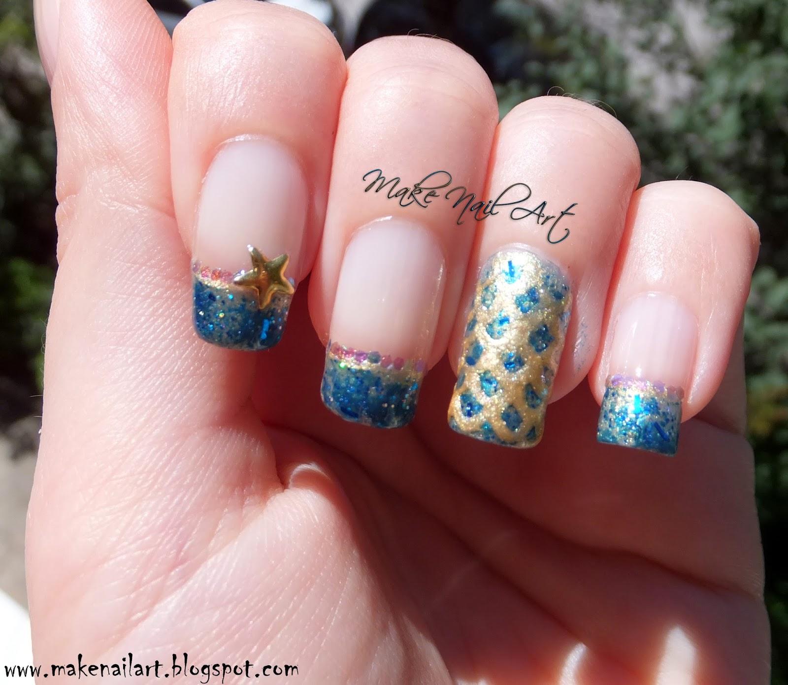 Make Nail Art Mermaid Inspired Nail Art Tutorial