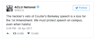 ACLU Defends Coulter: 'We Must Protect Speech'