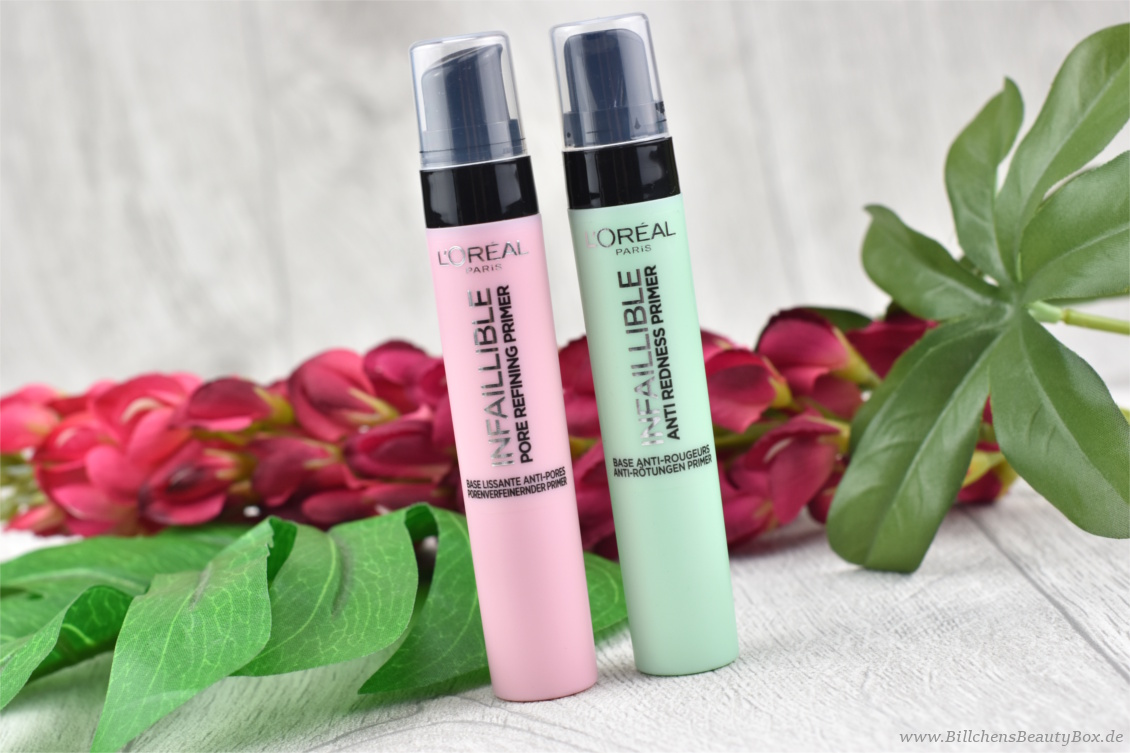L'Oréal INFAILLIBLE Pore Refining und Anti-Redness Primer - Review und Swatches
