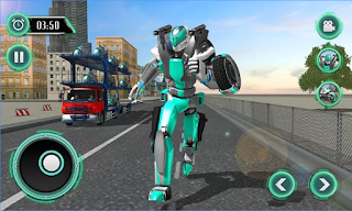 Game Robot Bike Transport Truck Sim App