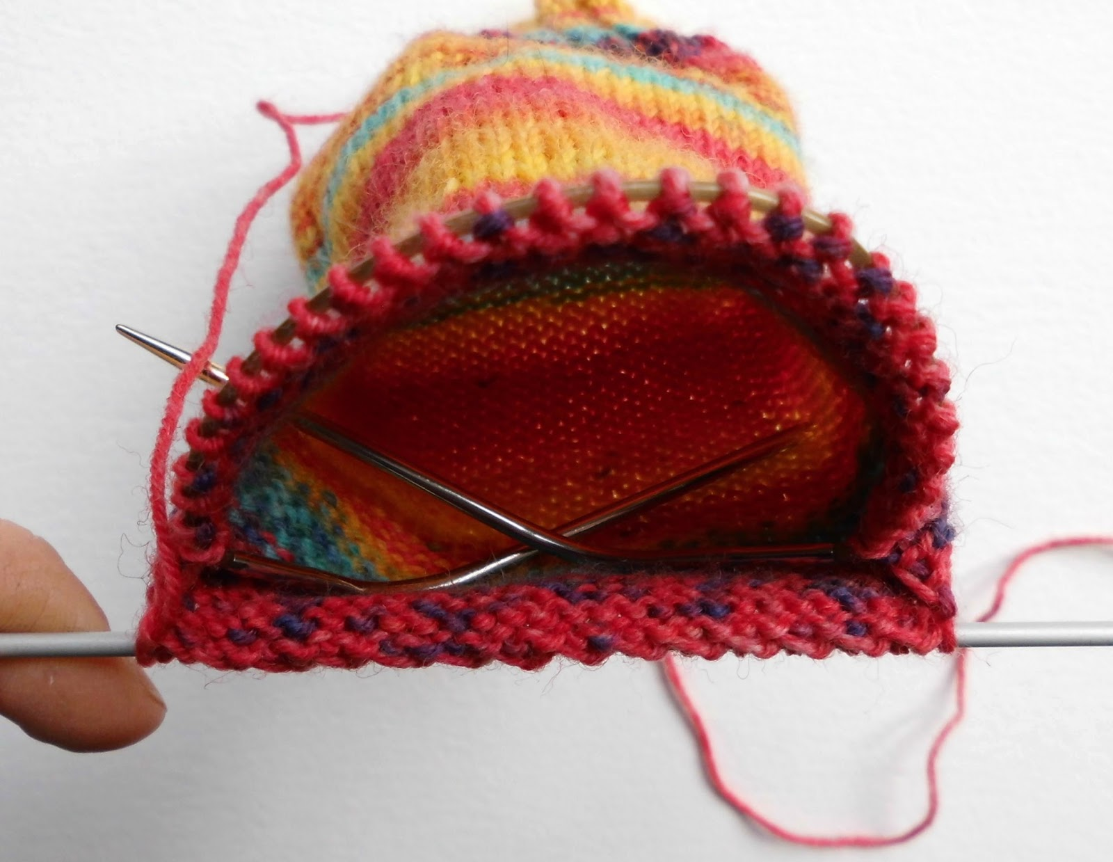 Sock knitting for beginners: heel flap