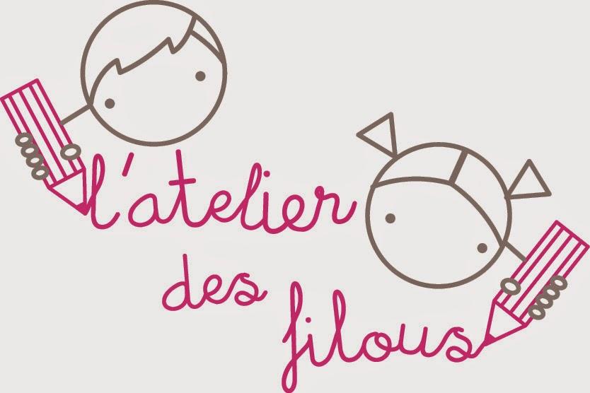 logo de l'atelier des filous qui customise les habits des petits