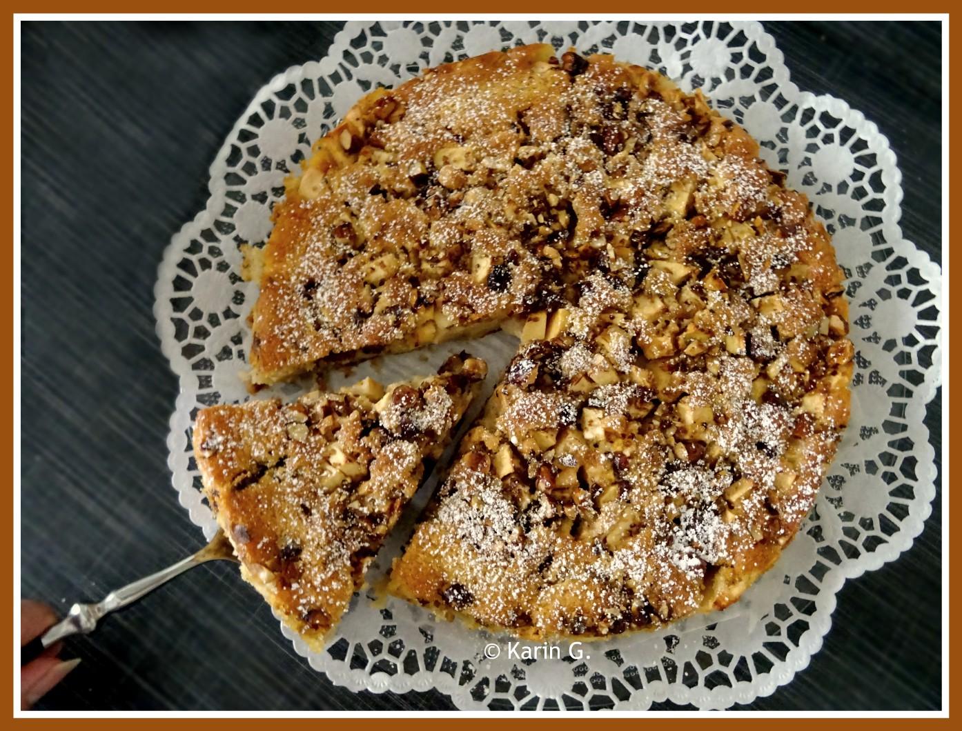 Ich Hab Da Mal Was Ausprobiert Pikanter Gewurz Apfel Nuss Kuchen