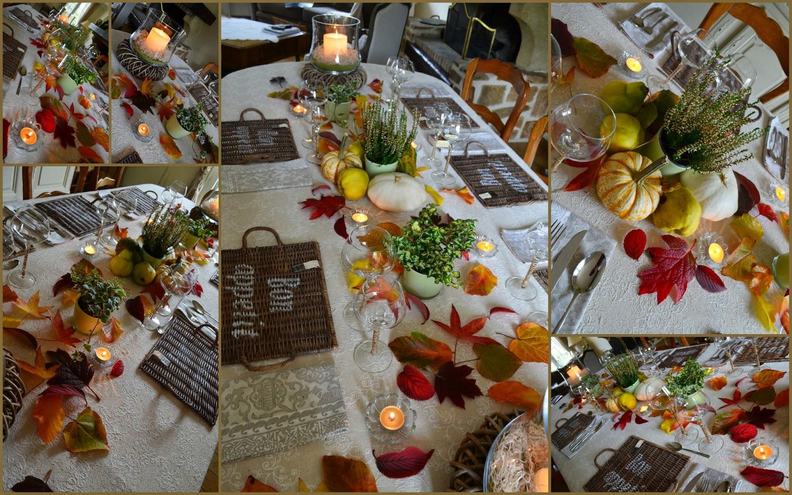ma maison au naturel d coration d 39 automne pour notre table. Black Bedroom Furniture Sets. Home Design Ideas