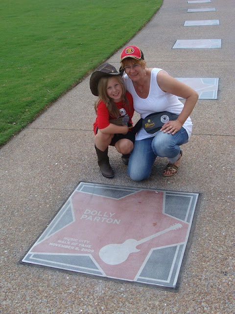 Stern von Dolly Parton auf dem Walk of Fame in Nashville Tennessee