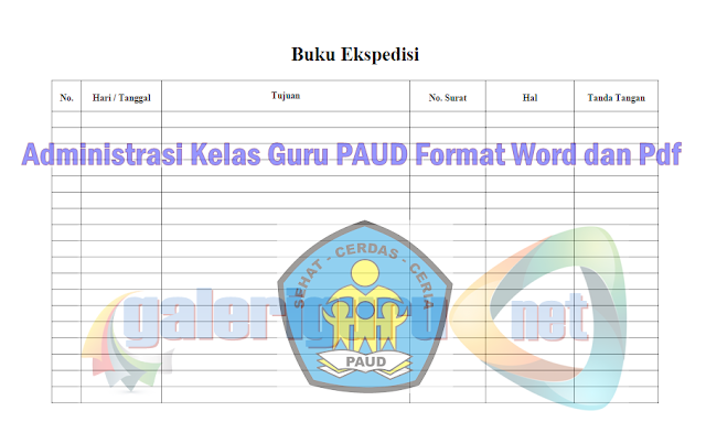 Administrasi Kelas Guru PAUD Format Word dan Pdf