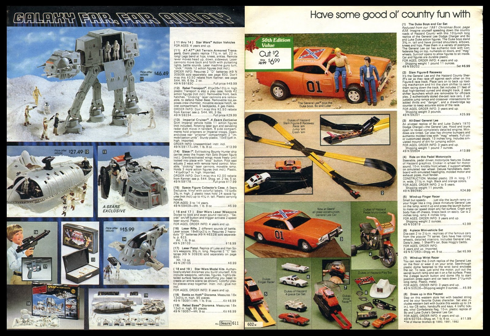 Marvel Comics of the 1980s: 1981 - Sears Christmas Toys Catalog