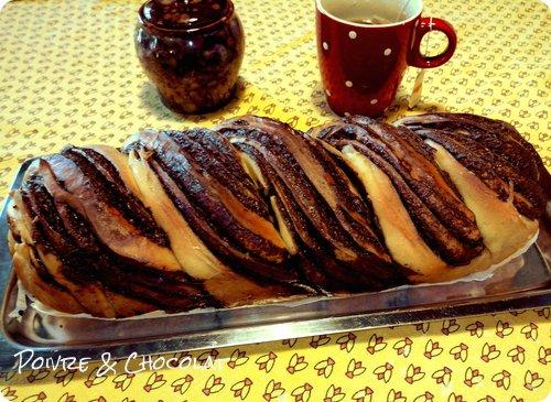 Krantz Cake ou Brioche Babka roulée au chocolat