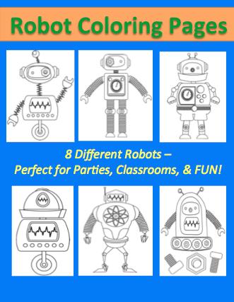 Robots. 11 Imprimibles y juegos. - Cuentos de Amatxu