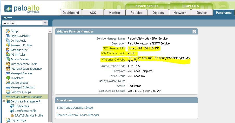 VMware NSX & Palo Alto Next Generation Firewall Solution