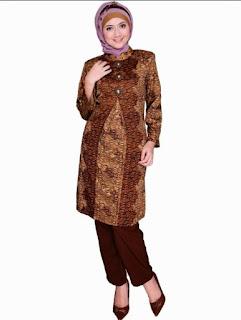 Baju batik muslim modis untuk kerja