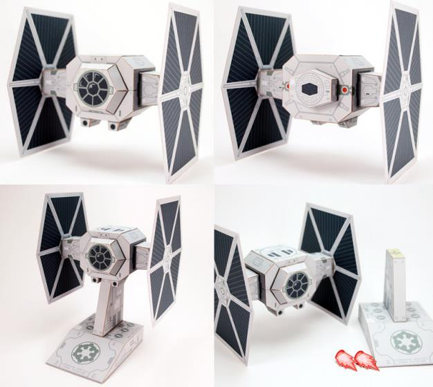 papermau star wars galatic empire starfighter tie fighter paper toyby cubefold. Black Bedroom Furniture Sets. Home Design Ideas