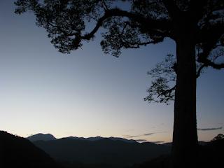 blue hour morning sky