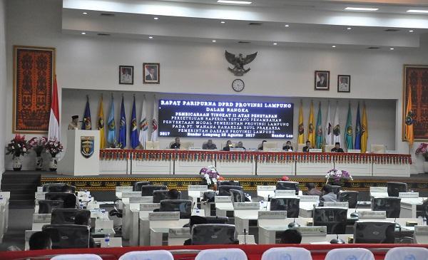 Pendapatan Rp7,7 Triliun, DPRD Lampung Sahkan Perubahan APBD 2017 Provinsi Lampung.