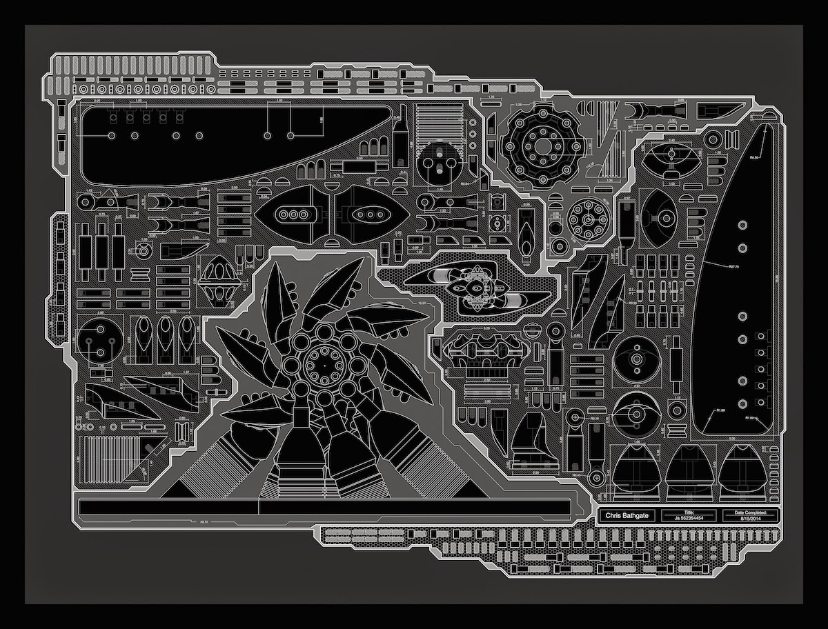 Industrial design, Schematic, CNC Art, CAD Art, CAD/CAM, Machined Sculpture
