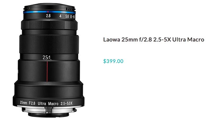 Открыт предзаказ на объектив Laowa 25mm f/2.8 2.5-5X Ultra Macro