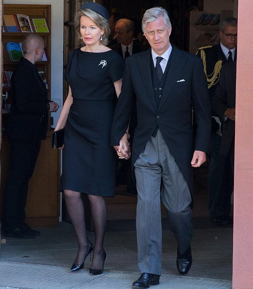 King Philippe and Queen Mathilde of Belgium attended the funeral of Duke Friedrich of Württemberg held at Altshausen Castle in Germany
