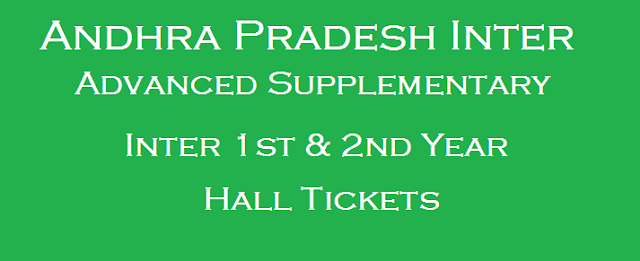 AP State, AP Inter, AP Inter Advanced Supply Time Table, AP Hall Tickets, ap inter hall tickets